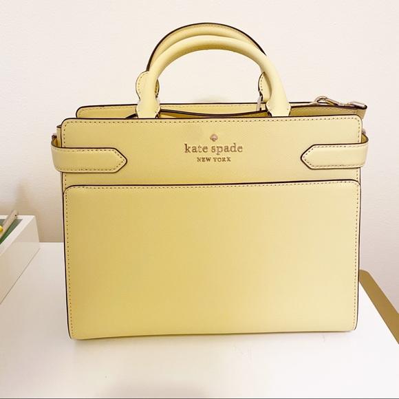Kate Spade Yellow Satchel Staci Handbag